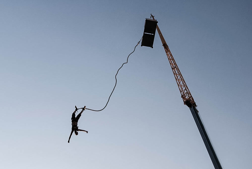Bungee jumping Sommer Spaß Natur