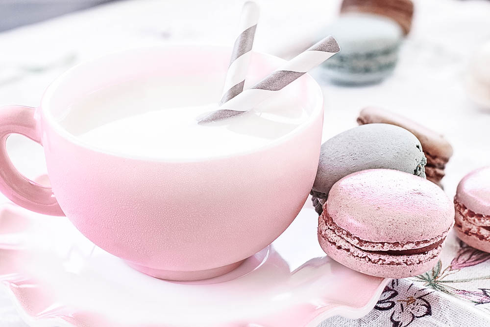 Macarons mit Milch